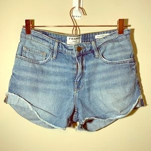 FRAME Denim Le Grand Garçon Short in Boulevard